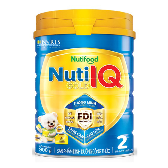 Nuti IQ Gold số 2, 900g, NutiFood, 6-12 tháng