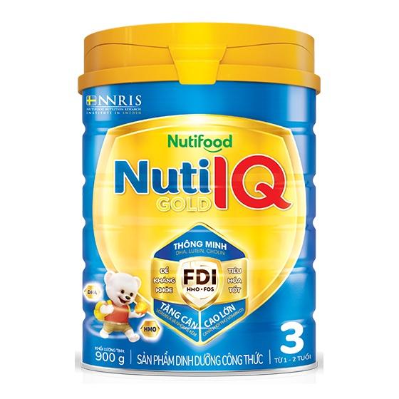 Sữa Nuti IQ Gold Step 3, Nutifood, 900gr, 1-2 tuổi