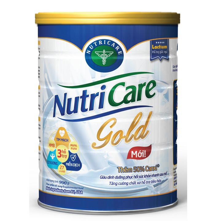 Sữa NutriCare Gold cho người lớn tuổi  lon 900g