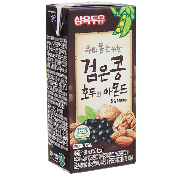 Sữa Óc Chó Hạnh Nhân SahmYook, 24 hộp 190ml