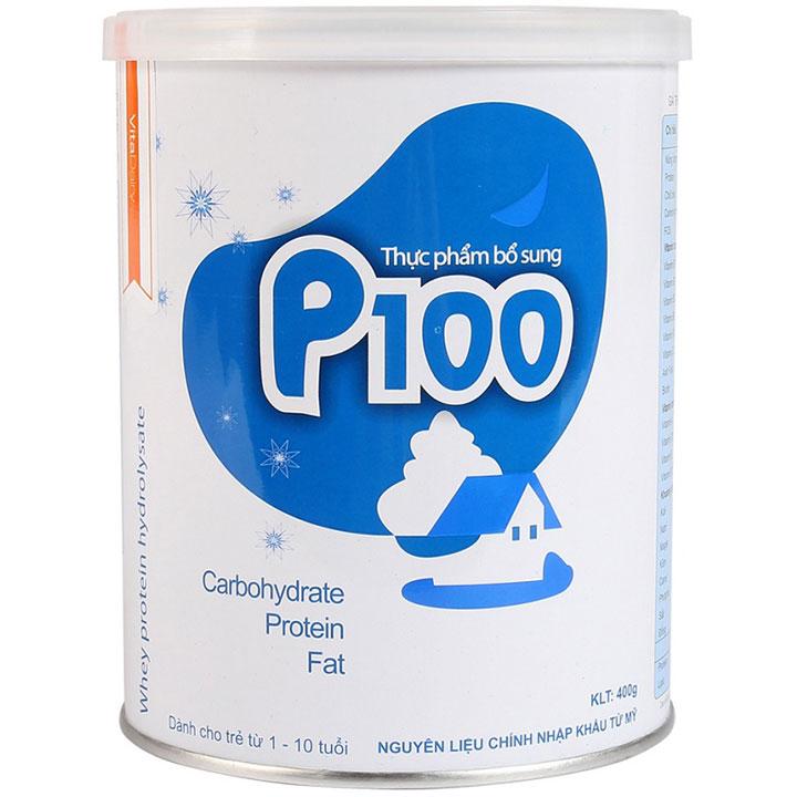 Sữa bột dinh dưỡng P100 cho trẻ 1-10 tuổi. 900g