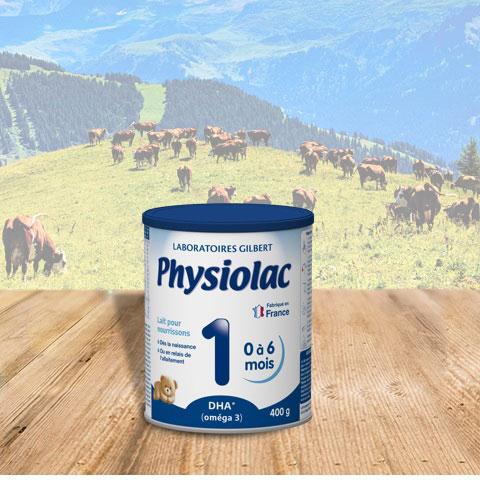 Sữa bột Physiolac 1, 0-6 tháng, 400g, Gilbert Pháp