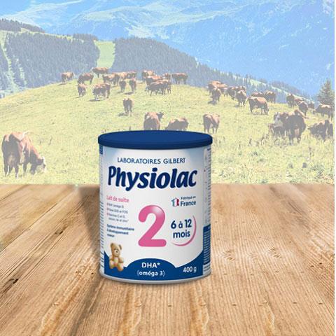 Sữa bột Physiolac 2, 6-12 tháng, Gilbert Pháp, 400g