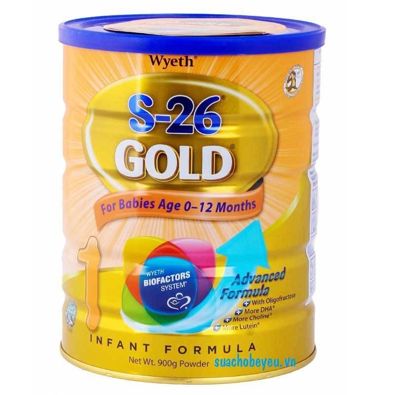 Sữa S-26 Gold 1, 0-12 tháng tuổi, 900g, Wyeth