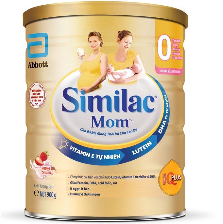 Sữa Similac Mom IQ hương sữa chua dâu, 900g
