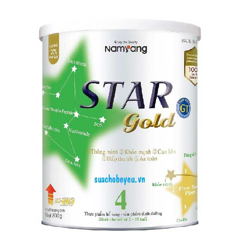 Star Gold 4 - Namyang Hàn Quốc, 2 - 15 tuổi, 800g