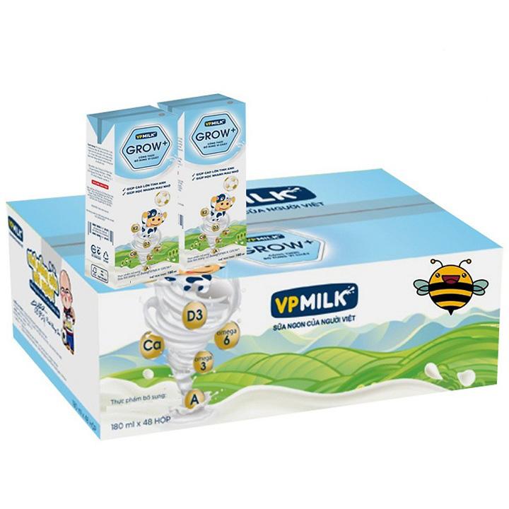 Sữa Dinh Dưỡng VPMilk Grow+ Ít Đường, Hộp 110ml