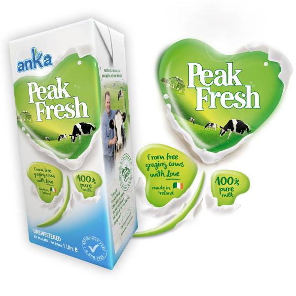 Thùng Sữa tươi Anka Peak Fresh Ireland, 1 Lít x 6 hộp