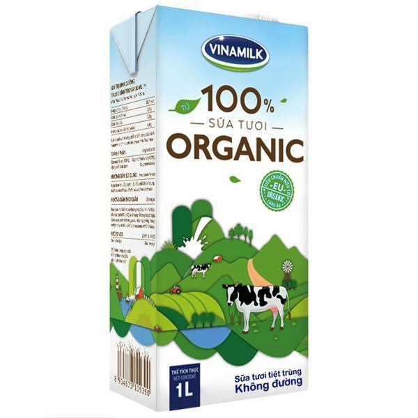 Sữa Tươi Hữu Cơ Organic Vinamilk, 6 hộp 1 Lít