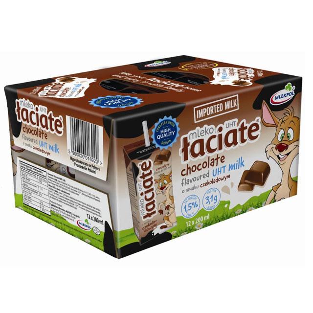 Sữa tươi Ba Lan Laciate hương socola hộp 200ml