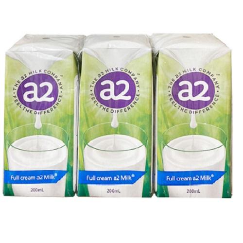 Thùng sữa tươi nguyên kem A2 Úc hộp 200ml