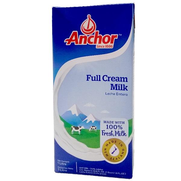 Sữa tươi nguyên kem New Zealand Anchor hộp 1L