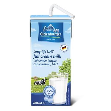 Sữa tươi nguyên kem Oldenburger Đức 200ml