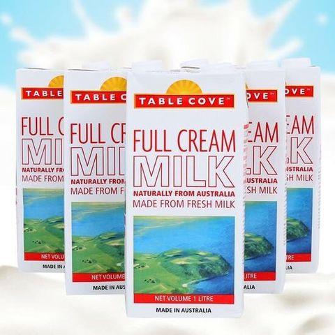 Thùng Sữa nguyên kem Table Cove Úc, 12hộp x1lít