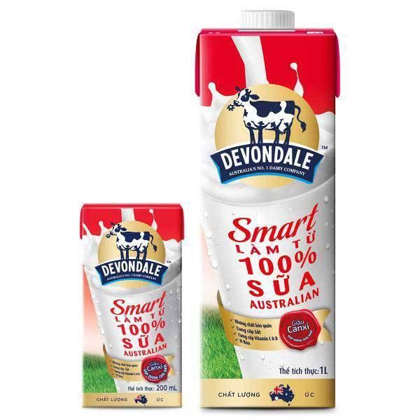 Thùng Sữa tươi Devondale Smart Úc 10hộp x1lít