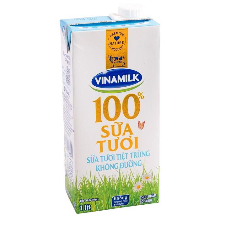 Sữa Tiệt Trùng Vinamilk Không Đường Hộp 1 Lít