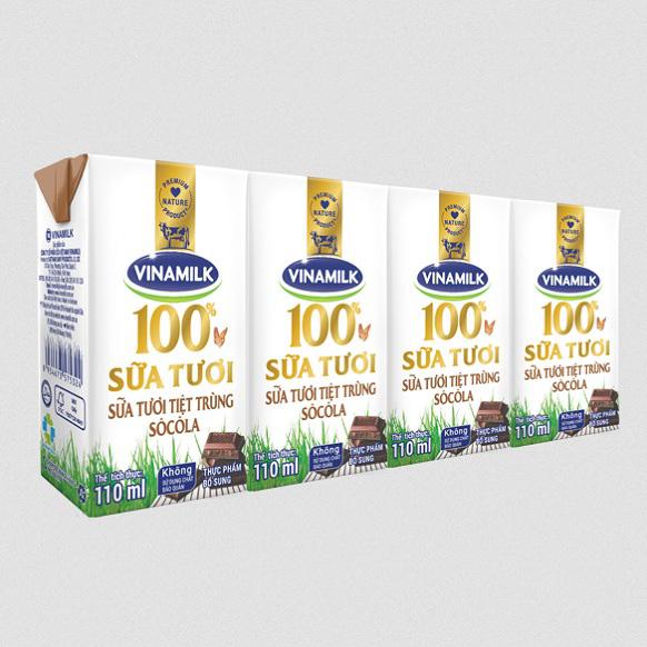Sữa tươi Vinamilk tiệt trùng Socola hộp 110ml