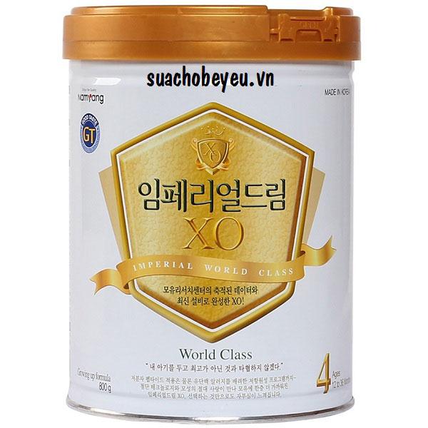 Sữa bột XO 4 - Namyang Hàn Quốc, 1-3 tuổi, 800g