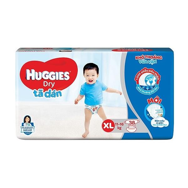 Tã dán Huggies Dry size XL 38 miếng trẻ 11-16kg