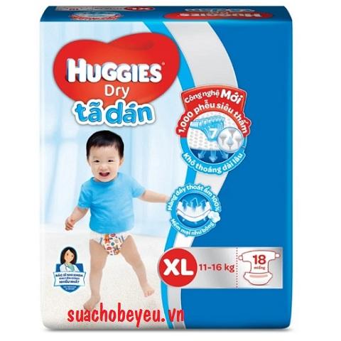 Tã dán Huggies size XL 18 miếng cho trẻ 11-16kg