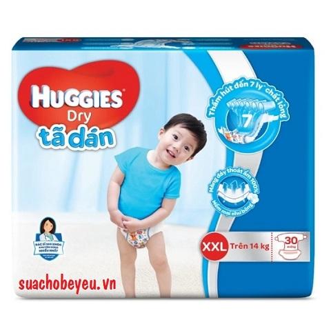 Tã dán Huggies Dry XXL 30 miếng trẻ trên 14kg