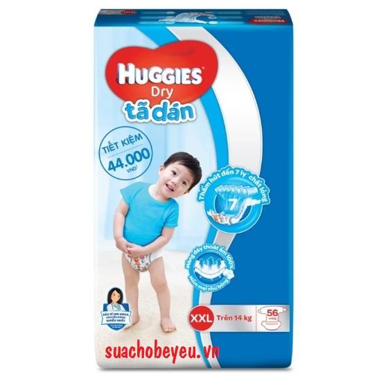 Tã dán Huggies Dry size  XXL 56 miếng, trên 14 kg