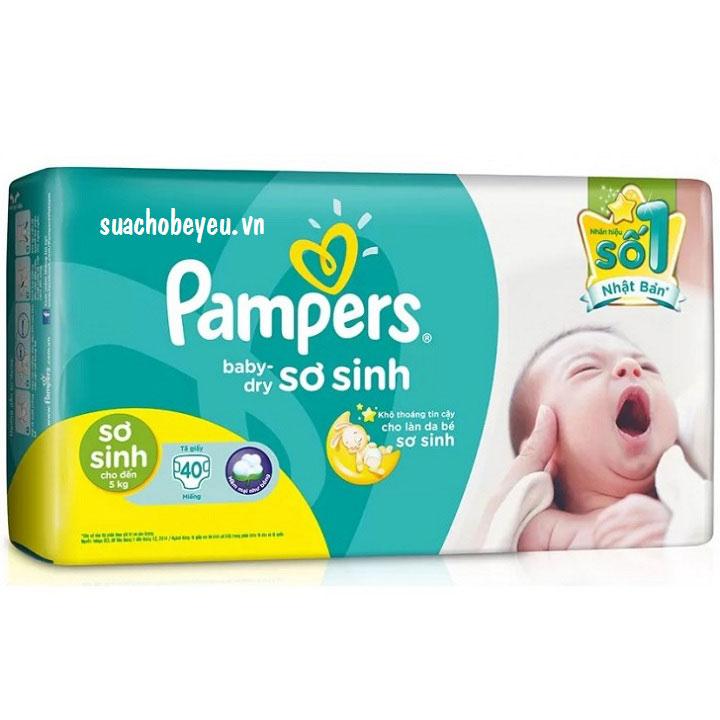 Tã Dán Pampers Newborn 40 miếng, sơ sinh -5 kg