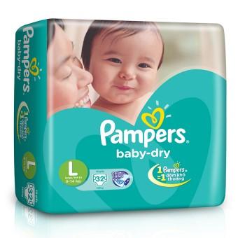 Tã Dán Pampers size L 32 miếng, cho trẻ 9kg-14kg
