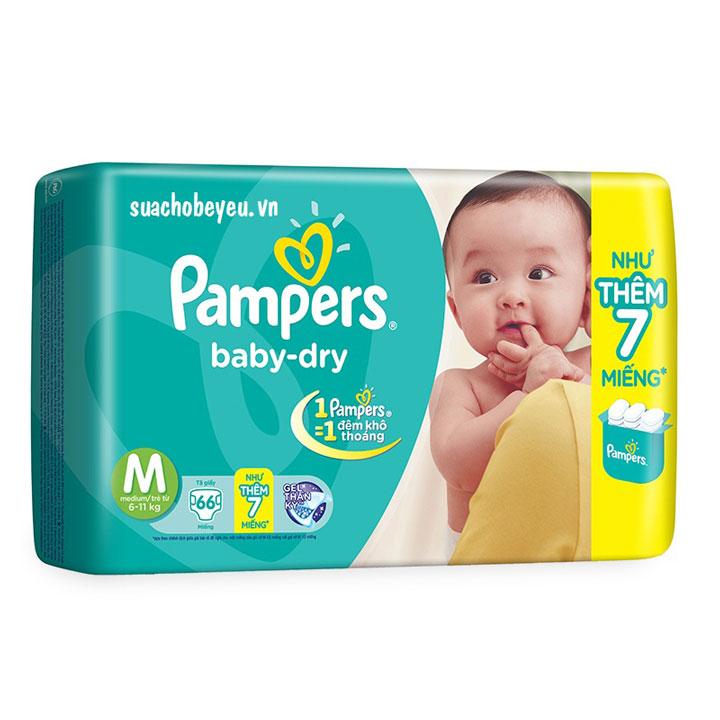 Tã dán Pampers size M 66 miếng, cho trẻ 6-11kg