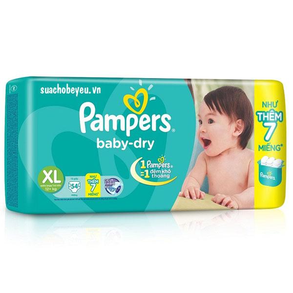 Tã Dán Pampers size XL 54 miếng, cho trẻ >12 kg