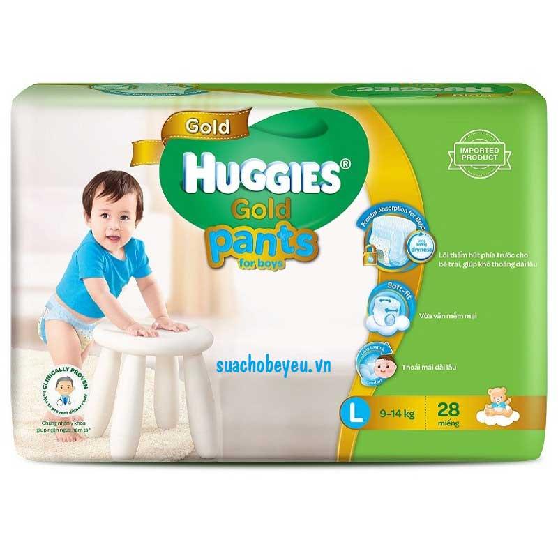 Tã quần Huggies Gold bé trai L 28 miếng, 9-14kg