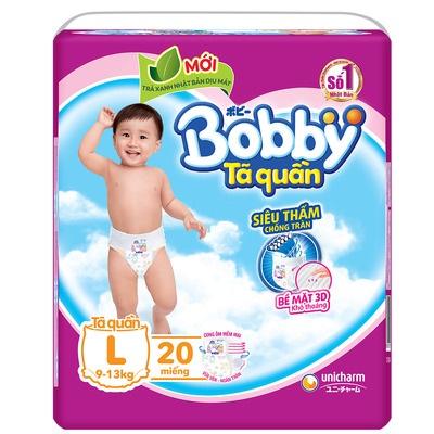 Tã quần Bobby size L 20 miếng, cho trẻ 9-13kg