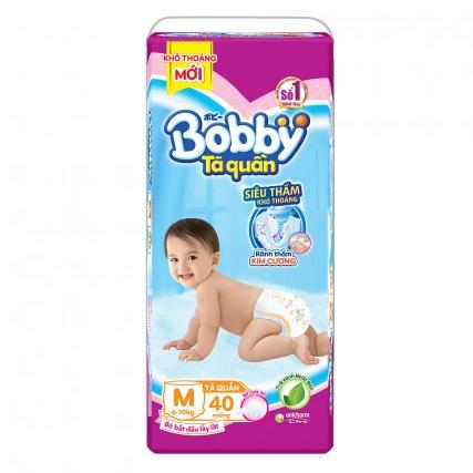 Tã quần Bobby size M 40 miếng cho trẻ 6-10kg