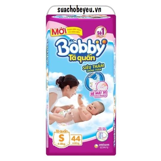 Tã quần Bobby size S 46 miếng cho trẻ 4-8kg