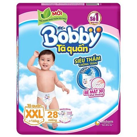 Tã quần Bobby size XXL 28 miếng, cho trẻ >16kg