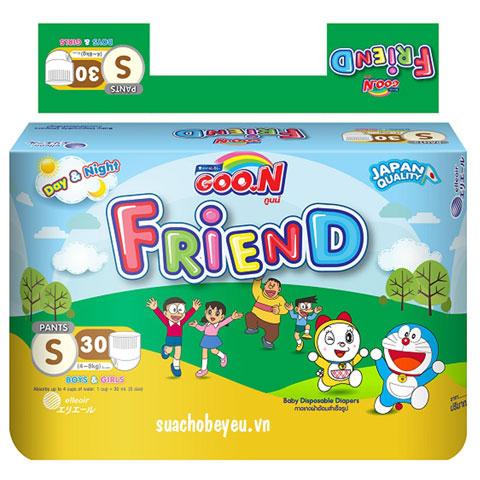 Tã giấy quần Goon Friend mới Size S30 miếng, 4-8kg