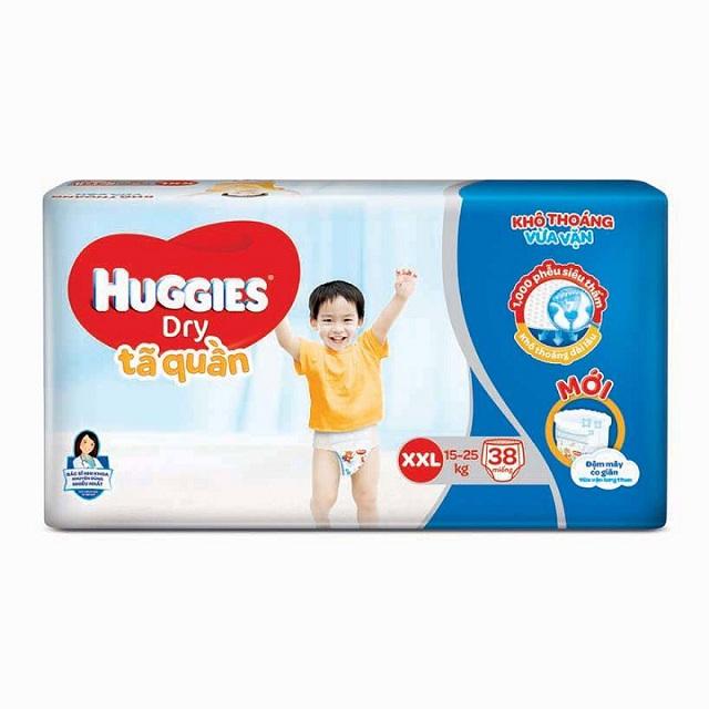 Tã quần Huggies Dry size XXL 38 miếng, 15-25kg