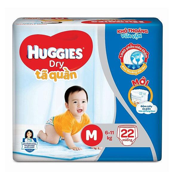 Tã quần Huggies Dry size M 22 miếng trẻ 6-11kg