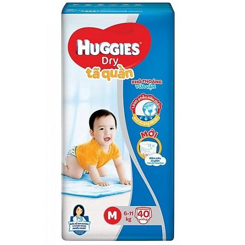 Tã quần Huggies Dry size M 40 miếng trẻ 6-11kg