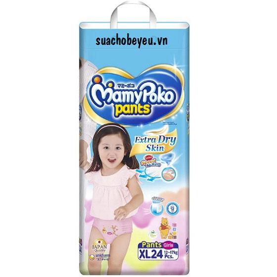 Tã quần Mamypoko XL-24 miếng, bé gái 12-17kg