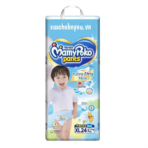 Tã quần Mamypoko XL-24 miếng bé trai 12-17kg