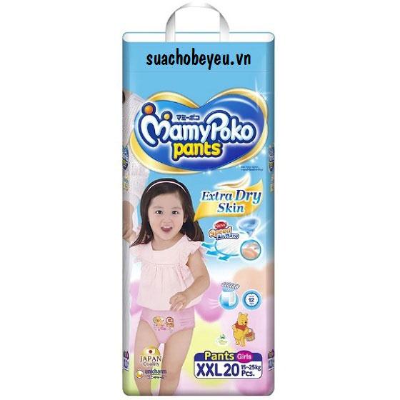 Tã quần Mamypoko XXL-20 miếng, bé gái 15-25kg