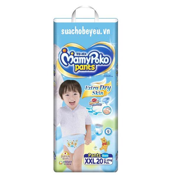 Tã quần Mamypoko XXL-20 miếng bé trai 15-25kg