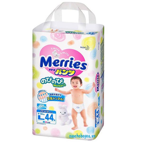 Tã quần Merries Size L 44 miếng, cho trẻ 9-14kg