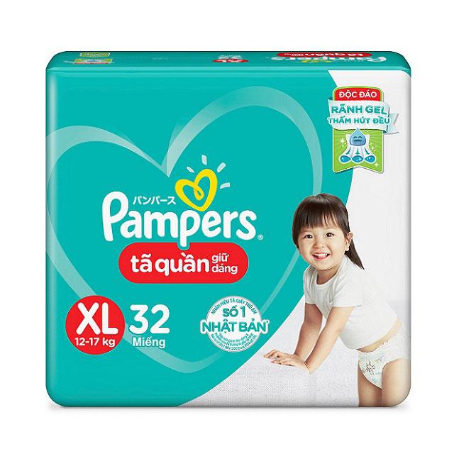 Tã quần Pampers Giữ Dáng size XL32 miếng, trẻ 12-17kg