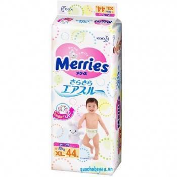 Tã  Dán Merries nhập khẩu Size XL 44 miếng, 12-20 kg