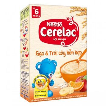 Bột Ăn Dặm cho bé Cerelac Gạo, Trái Cây > 6 tháng