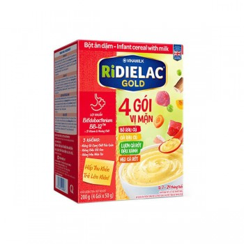 Bột Ăn Dặm Ridielac Gold 4 gói vị mặn, hôp 200g