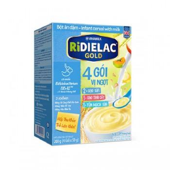 Bột Ăn Dặm Ridielac Gold  4 gói 3 vị ngọt, hộp 200g