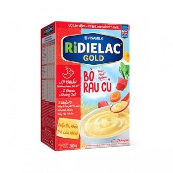 Bột Ăn Dặm Ridielac Gold Bò Rau Củ, hộp 200g